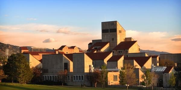 Engineering Center at sunrise(Photo by Glenn Asakawa/University of Colorado)